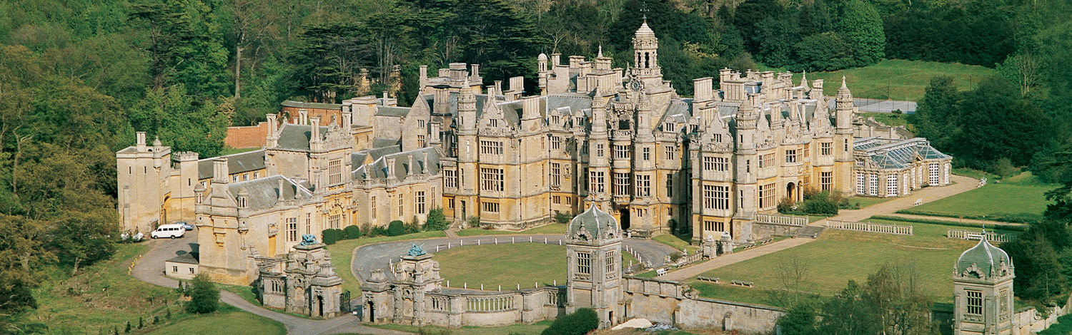 Harlaxton Manor from Above